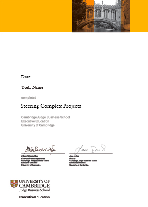 Steering Complex Projects Programme Certificate